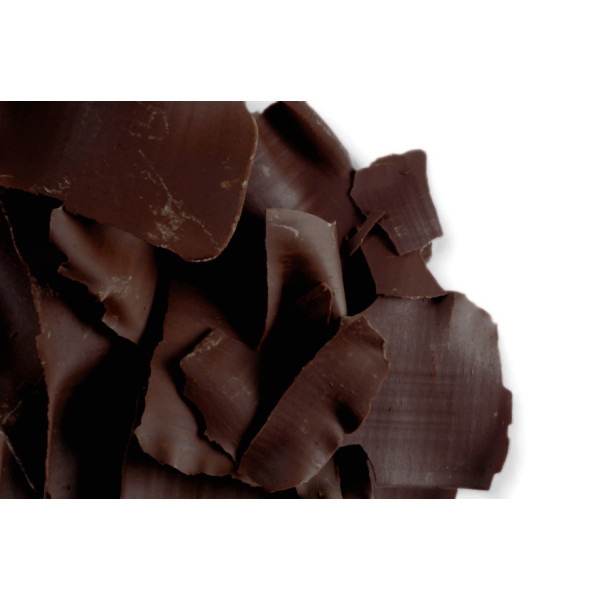 Dark Flat Shavings Belgian Chocolate