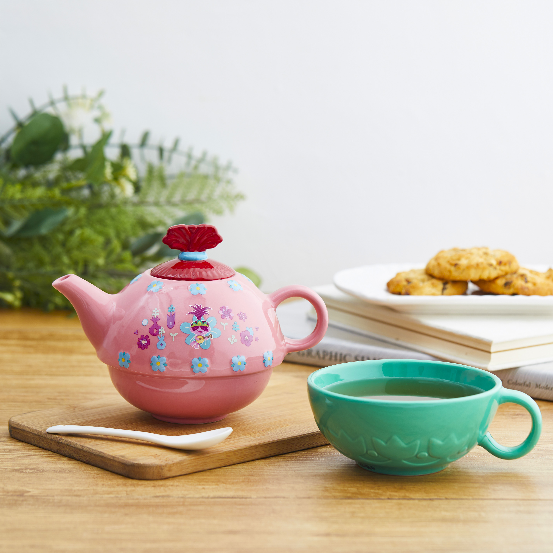 Trolls 2 Movie Sculpted Ceramic Tea Set, Be Free!, 4-piece set slideshow image 2