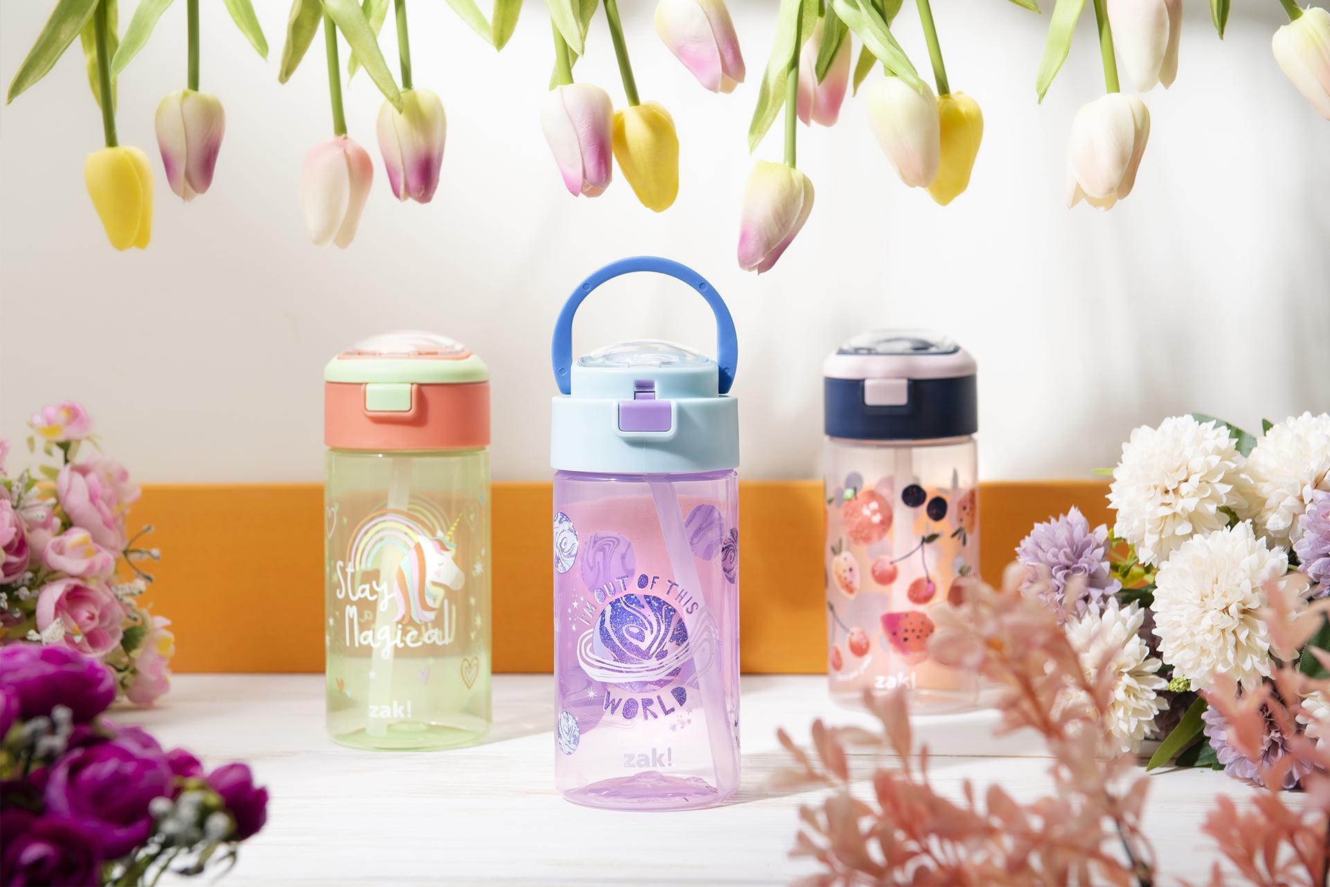 Genesis 18 ounce Water Bottles, Unicorn, 2-piece set slideshow image 7