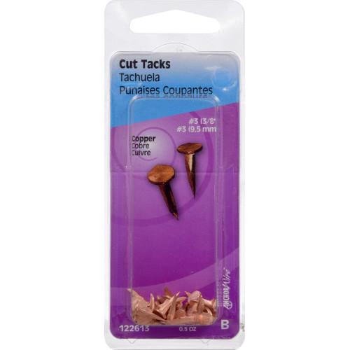 Copper Cut Tacks #3 x 3/8
