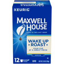 Maxwell House Wakeup Roast Coffee K-Cup Pods 12 count Box