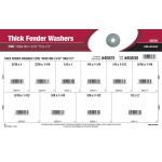 "Zinc Wide Rim Thick Fender Washers Assortment (3/16"" thru 1/2"")"