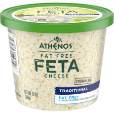 Athenos Crumbled Fat-Free Feta Cheese 12 oz Tub
