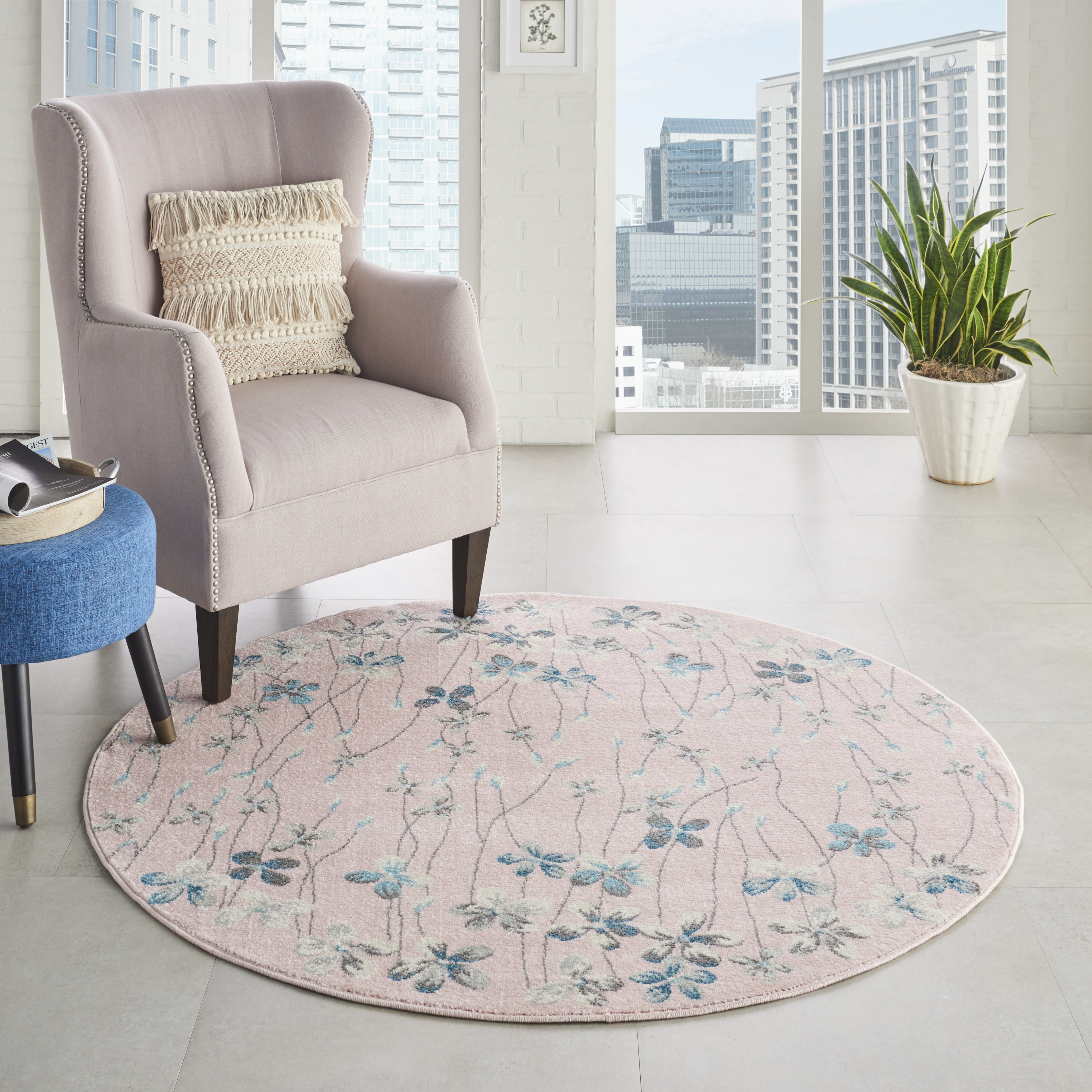 Nourison Tranquil TRA04 Pink Rug