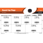 "Round Cap Plugs Assortment (3/4"" Thru 2"")"