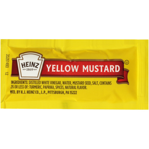 HEINZ Single Serve Mild Mustard, 0.2 oz. (Pack of 200)