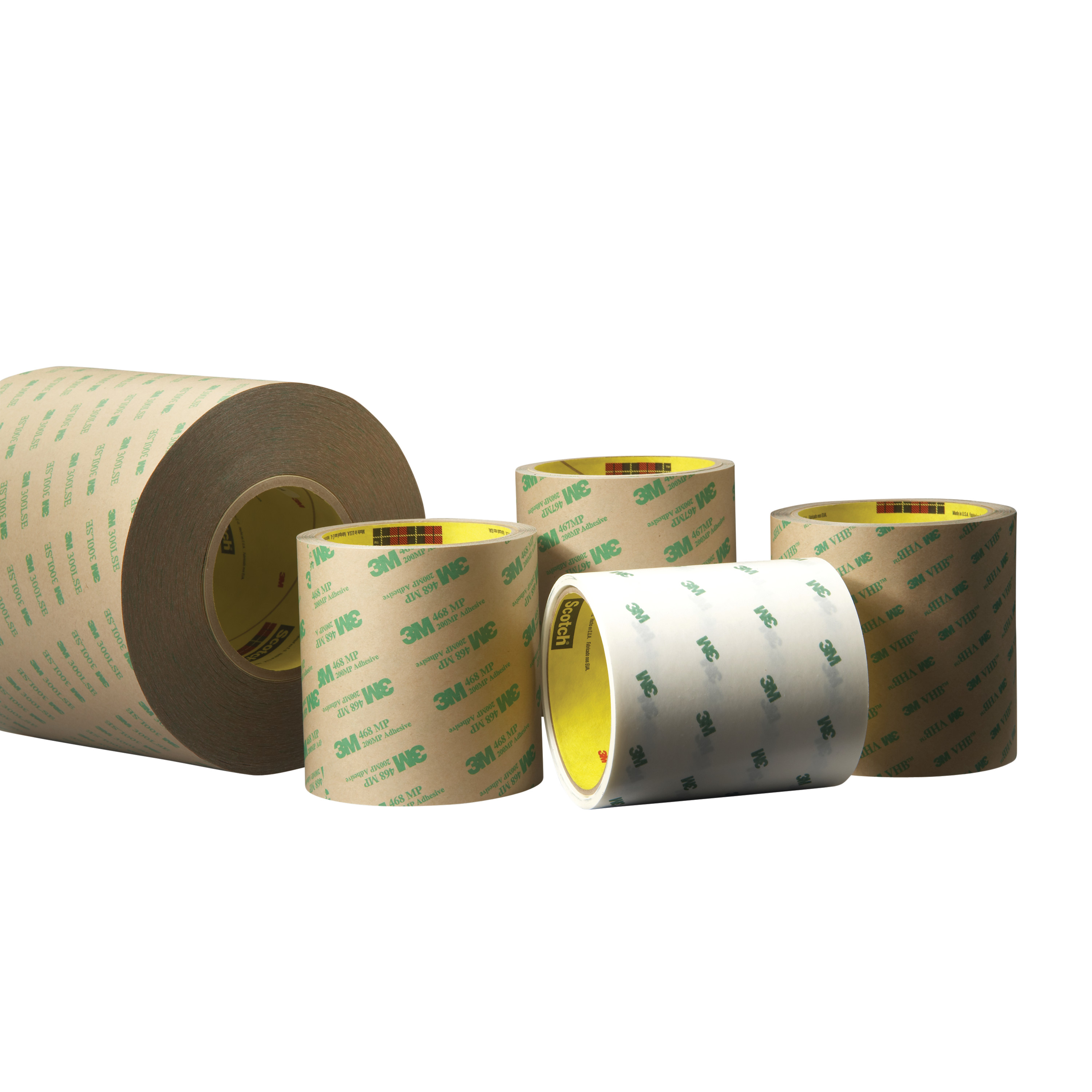 3M™ Adhesive Transfer Tape 966, Clear, 2.3 mil, Splice Free, Roll, Config