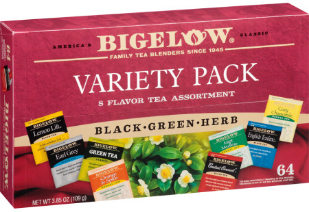 Fine Tea & Herbal Tea Assortment Box open