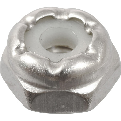 18-8 Stainless Steel Nylon Insert USS Coarse Stop Nut #4-40