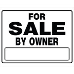 "For Sale by Owner Black and White Sign (20"" x 24"")"