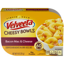 Kraft Velveeta Cheesy Bowls Bacon Mac & Cheese 9 oz Tray