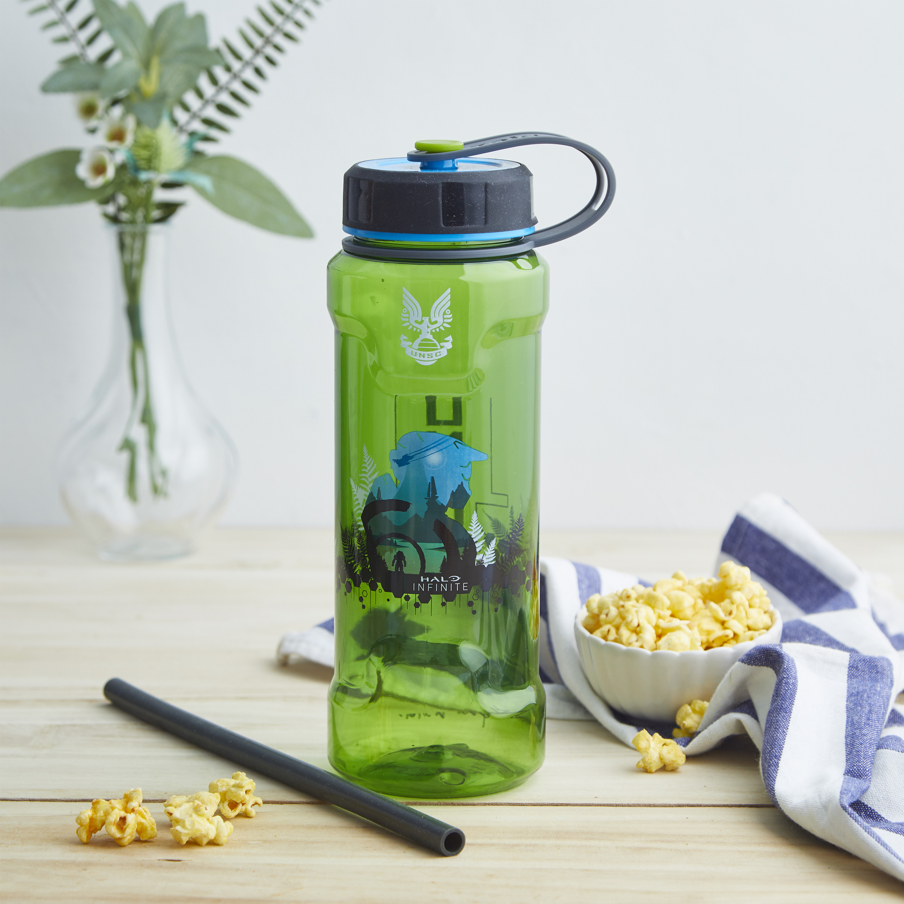 Halo 36 ounce Reusable Plastic Water Bottle, United Nations Space Command slideshow image 8