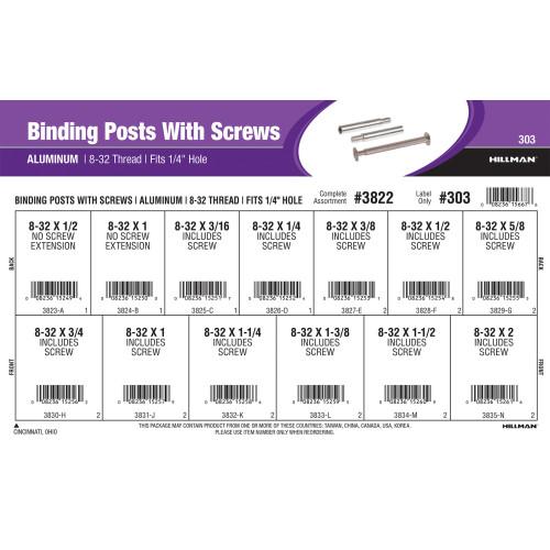 Aluminum Binding Posts With Screws Assortment
