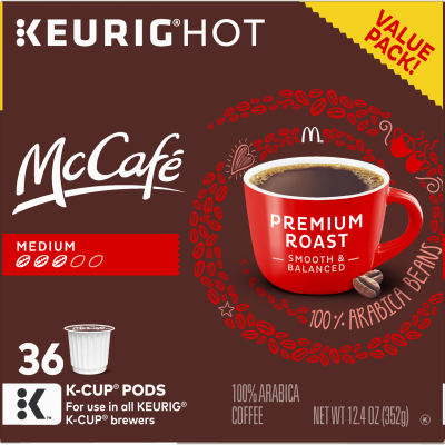 McCafe Premium Roast Coffee K-Cup Pods, 36 Count