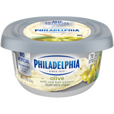 Philadelphia Olive Cream Cheese Spread 7.5 oz Tub