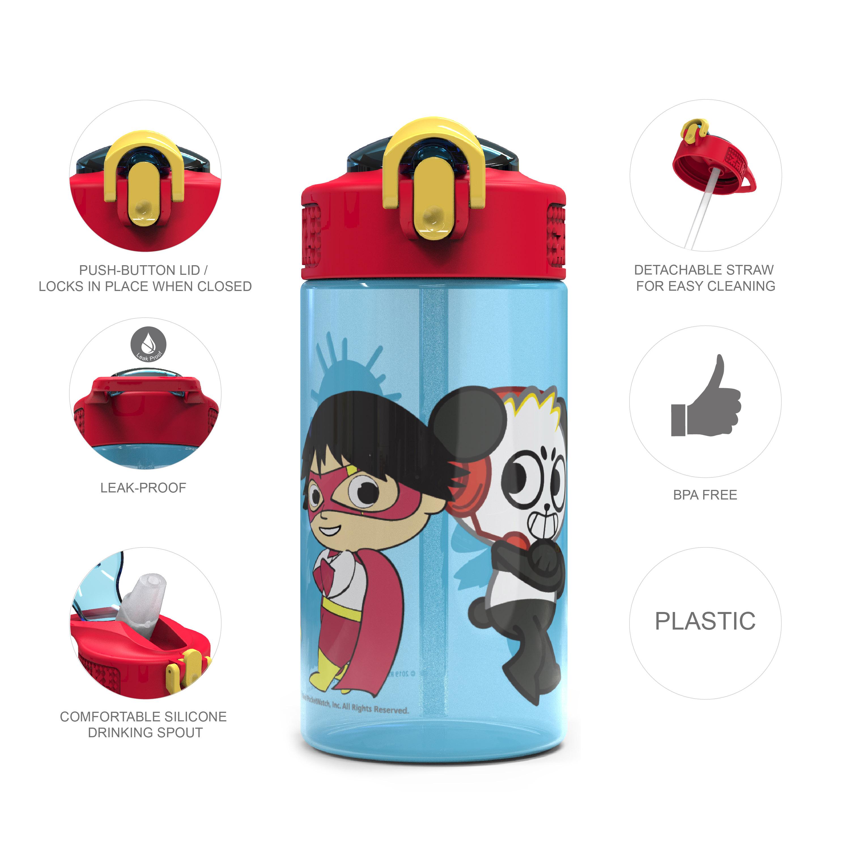 Ryan's World 16 ounce Water Bottle, Ryan & Friends, 2-piece set slideshow image 8