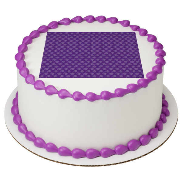 Purple Grad Hats PhotoCake® Edible Image®