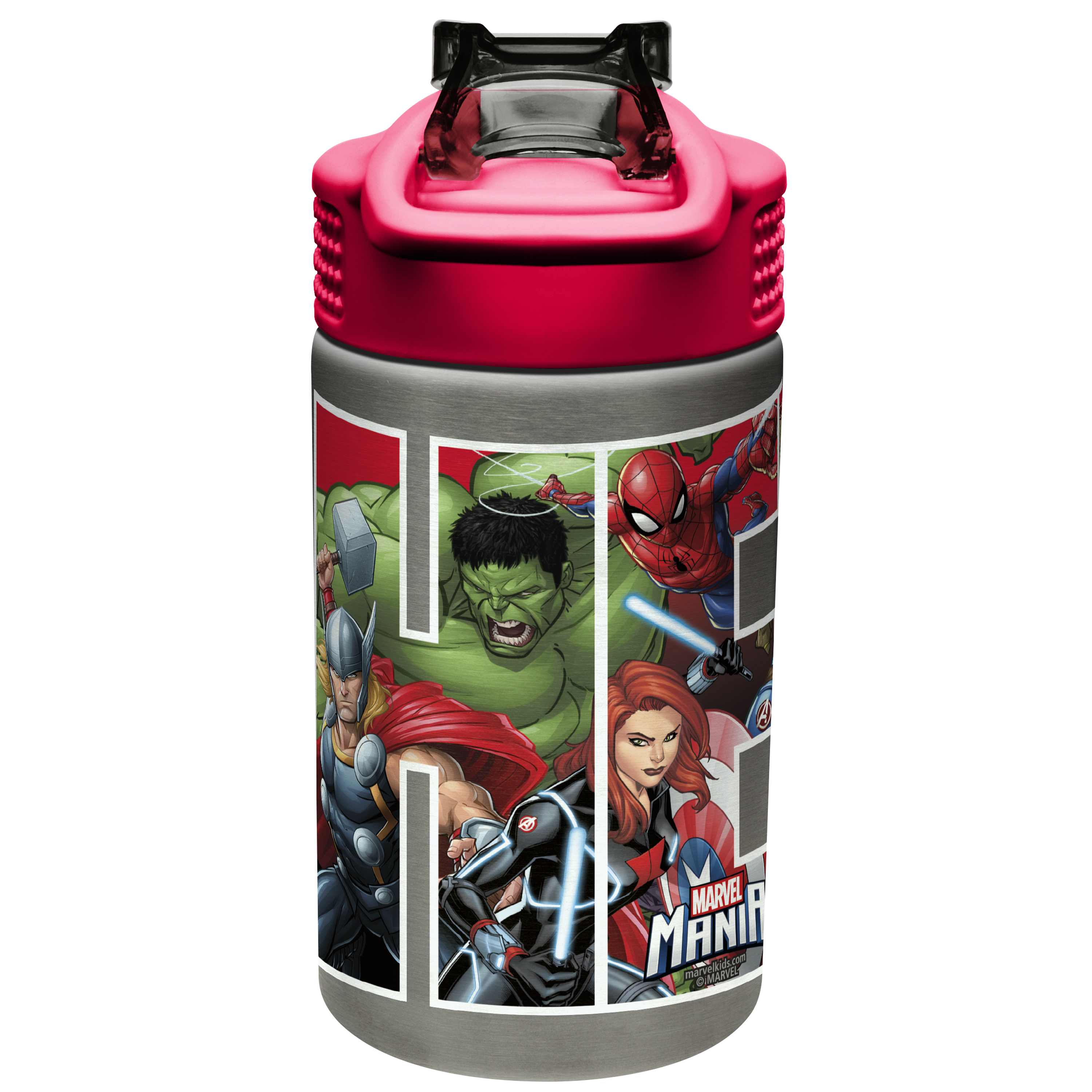Marvel Comics 15.5 ounce Water Bottle, Black Panther, Captain America, Spider-Man & The Hulk slideshow image 5