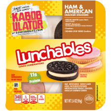Lunchables Convenience Meals-Single Serve Ham & Cheese 3.4 oz Tray