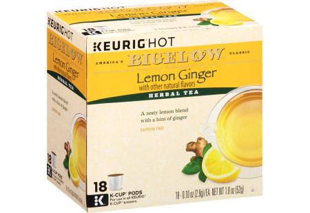 Lemon Ginger K-Cups - Case of 4 boxes - total of 72 k-cups