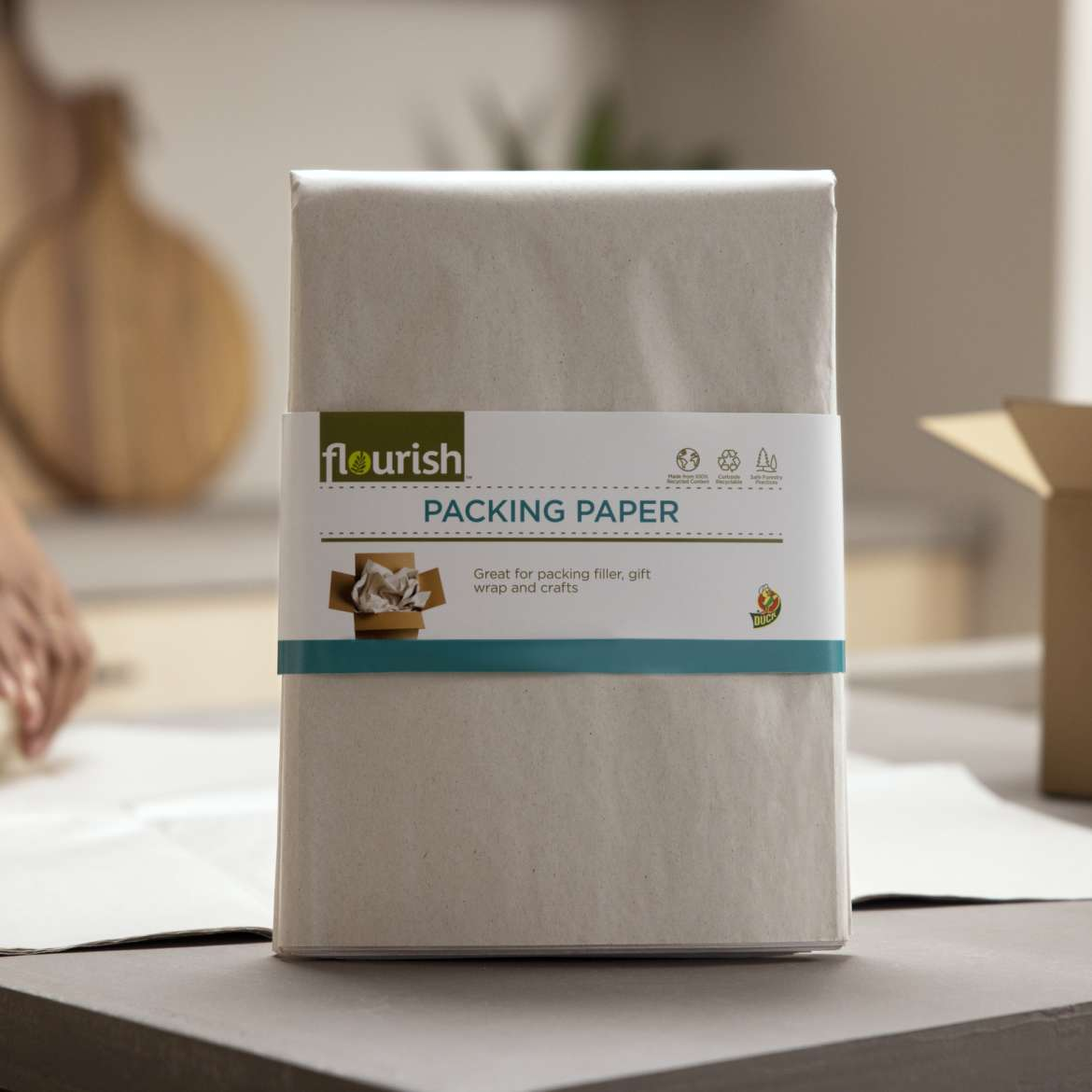 Flourish™ 100% Recycled Packing Paper