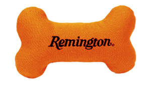 """Remington 7"""" Canvas Bone with Squeaker Dog Toy"""