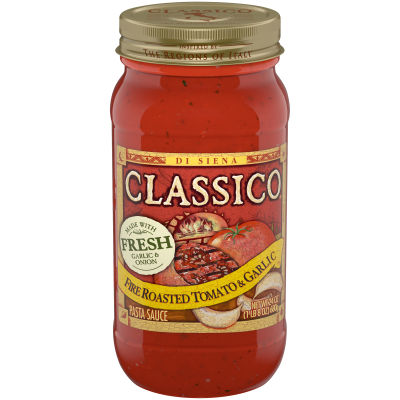 Classico Fire Roasted Tomato and Garlic Pasta Sauce, 24 oz Jar