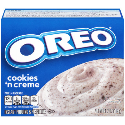 Jell-O Instant Oreo Cookies 'n Cream Pudding & Pie Filling 4.2 oz Box