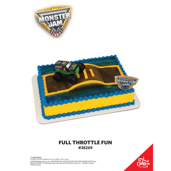 Monster Jam® Full Throttle Fun DecoSet® The Magic of Cakes® Page