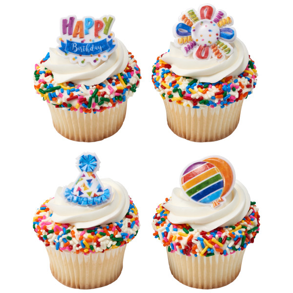 Happy Birthday Cupcake Rings