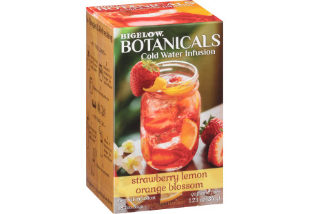 Strawberry Lemon Orange Blossom Cold Water Infusion Caffeine Free Herbal Tea 108 TB (case of 6 boxes)