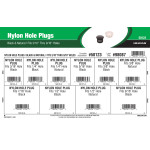 "Black & Natural Nylon Hole Plugs Assortment (Fits 3/16"" thru 9/16"" Holes)"