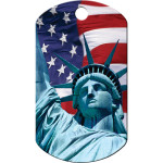 Statue of Liberty Chrome Large Military ID Quick-Tag