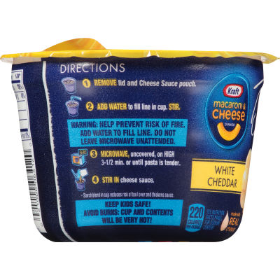 Kraft Deluxe White Cheddar Macaroni & Cheese Dinner 2.39 oz Tub