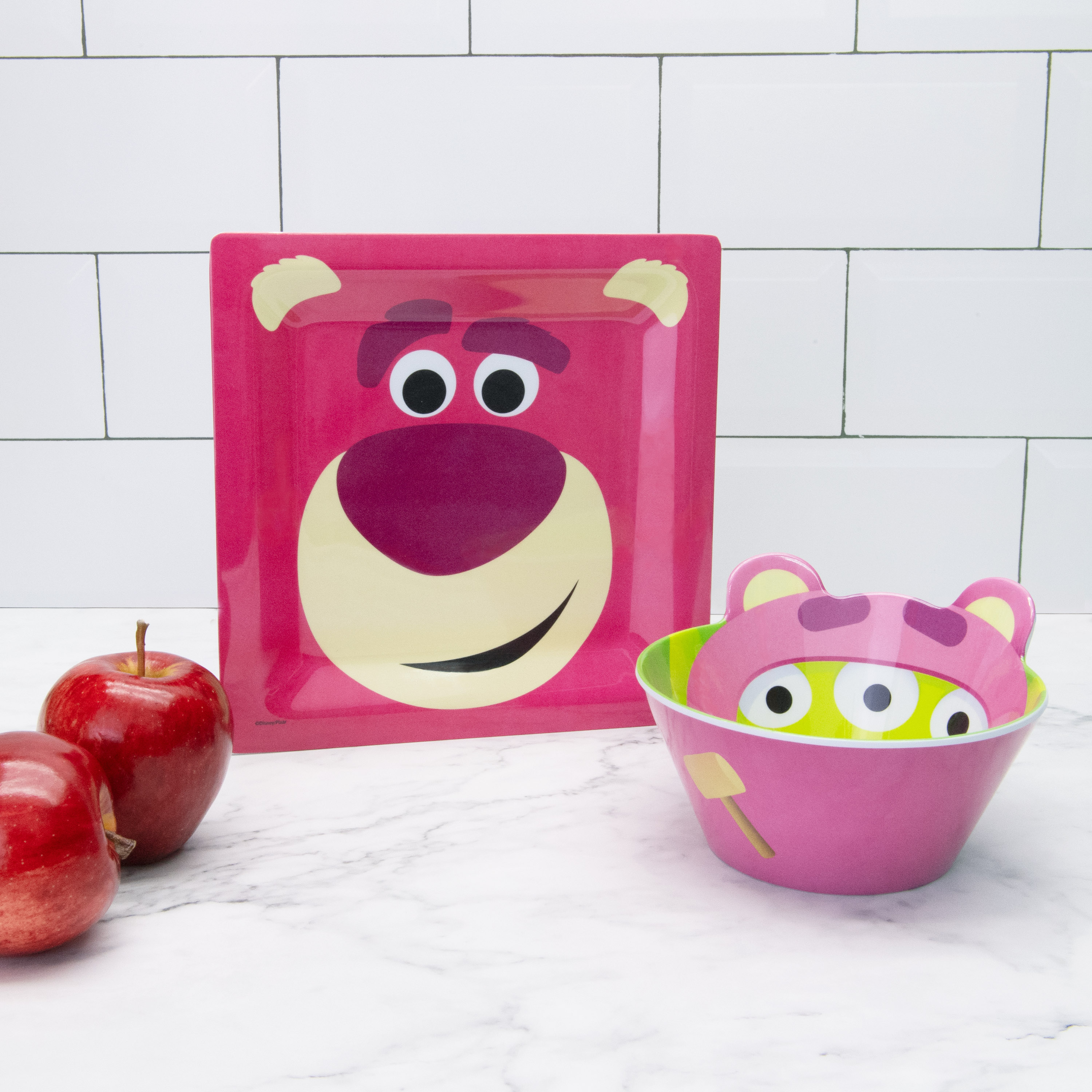 Disney and Pixar Toy Story 4 Plate and Bowl Set, Lotso, 2-piece set slideshow image 6