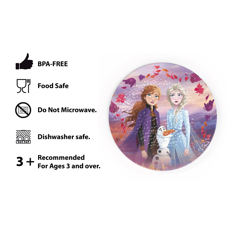 Disney Frozen 2 Movie Kids Plate and Bowl Set, Anna, Elsa & Olaf, 4-piece set slideshow image 8