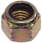 Zinc and Yellow Hardened Nylon Insert Grade C SAE Fine Stop Nut