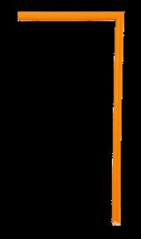 Confetti Fillet Orange 1/4