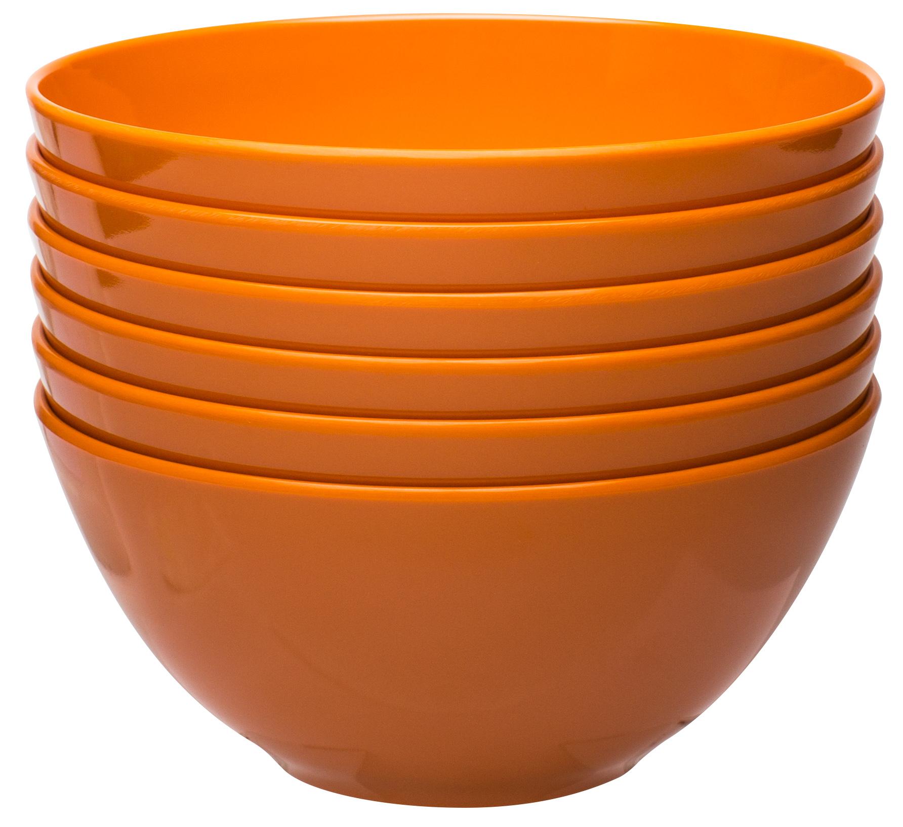 Ella 30 ounce Soup Bowl, Orange, 6-piece set slideshow image 1