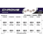 Chrome Button Bolt Caps Assortment