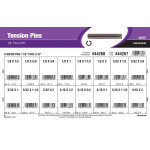 "Tension Pins Assortment (1/8"" thru 3/16"" Diameter)"