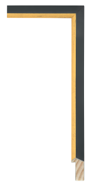 Soho Black w/Gold 1 1/8