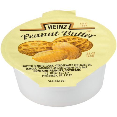 HEINZ Single Serve Peanut Butter, 0.75 oz. Cups (Pack of 200)
