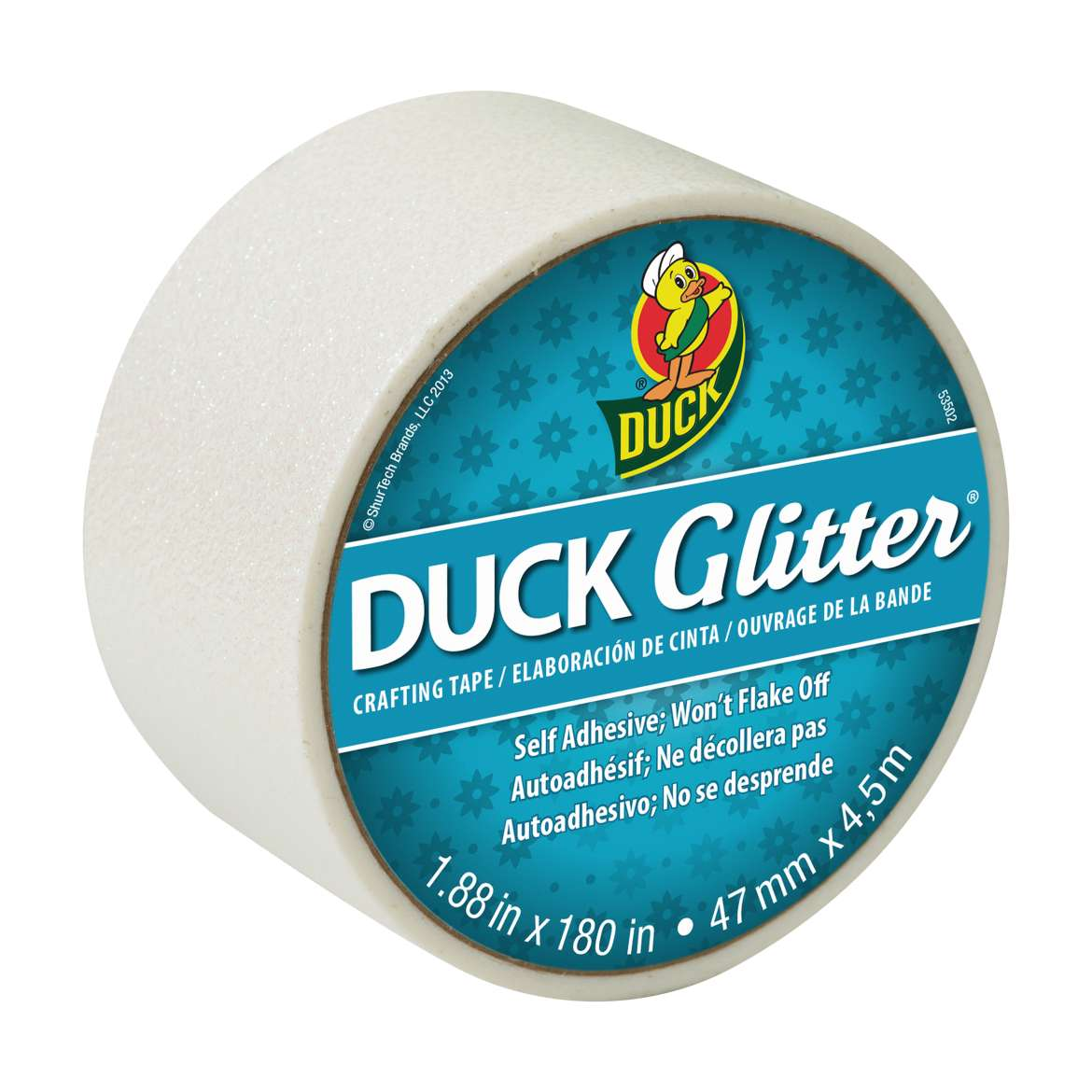 Duck Glitter® Crafting Tape - White, 1.88 in. x 5 yd. Image