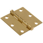 Hardware Essentials Square Corner Brite Brass Door Hinges