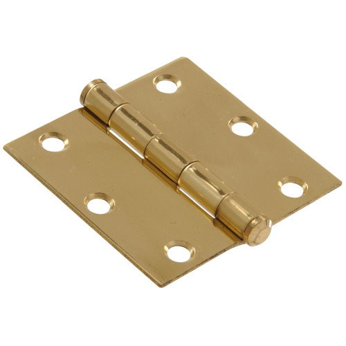 Hardware Essentials Residential Door Hinges with Removable Pin Brite Brass 3