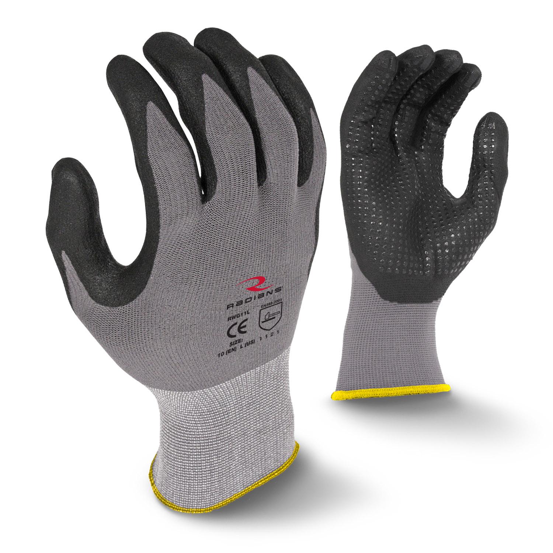 Radians RWG11 Microdot Foam Nitrile Gripper Glove