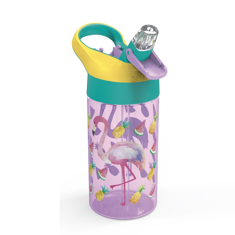 Zak Hydration 16 ounce Water Bottle, Cactus, Flamingos and Pineapples, 2-piece set slideshow image 2