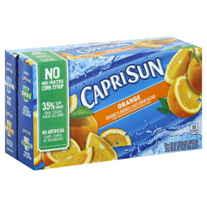CAPRI SUN Orange Juice Pouch, 6 oz. Pouches (Pack of 40) image
