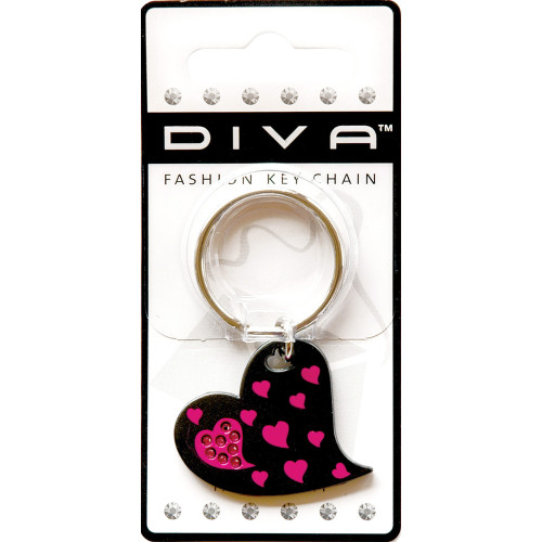 Pink Hearts Key Chain